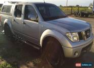 NISSAN NAVARA ST-X D40 2.5L TURBO DIESEL DUAL CAB 4X4 ENGINE DAMAGED REPAIRABLE for Sale