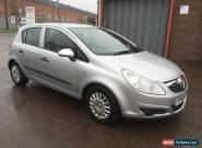 2007 VAUXHALL CORSA LIFE A/C SILVER LONG M.O.T*NOT SPARES/REPAIR*AUCTION ONLY  for Sale