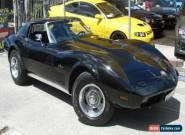 1974 Chevrolet Corvette Stingray Black Automatic A for Sale
