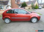 2007/07 FORD FIESTA STYLE CLIMATE 1.4 D 3DR RED 87K FSH VGC for Sale