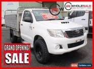 2011 Toyota Hilux SR White Manual M Cab Chassis for Sale
