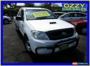 2009 Toyota Hilux KUN16R 09 Upgrade SR White Manual 5sp M Cab Chassis for Sale