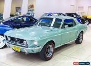 1968 Ford Mustang Lime Gold Metallic Automatic 3sp A Hardtop for Sale