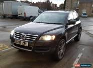 "VOLKSWAGEN VW TOUAREG 5.0L V10 DIESEL DPF BLACK LOW MILES 22"" ALLOYS NO RESERVE for Sale"