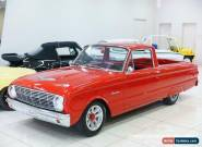 1962 Ford Falcon RANCHERO Red 2 SP MANUAL Utility for Sale