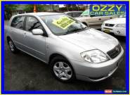 2002 Toyota Corolla ZZE122R Conquest Seca Silver Automatic 4sp A Hatchback for Sale