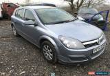 Classic 2004 VAUXHALL ASTRA 1.6 TWINPORT SILVER DAMAGED REPAIRABLE SALVAGE UN-RECORDED  for Sale