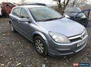 2004 VAUXHALL ASTRA 1.6 TWINPORT SILVER DAMAGED REPAIRABLE SALVAGE UN-RECORDED  for Sale