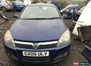 2005 VAUXHALL ASTRA 1.6 SPARES OR REPAIR CAM BELT SNAPPED  for Sale