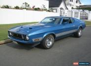 1973 Ford Mustang Mach 1 Blue Automatic 3sp A Fastback for Sale