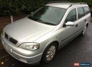 2001 VAUXHALL ASTRA LS DTI SILVER ESTATE MOT 01/17 for Sale