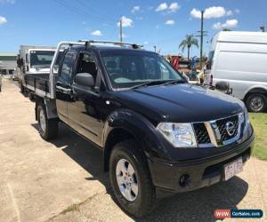 Classic 2008 Nissan Navara D40 RX (4x4) Black Manual 6sp M Kingcab for Sale