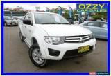 Classic 2012 Mitsubishi Triton MN MY12 GLX White Automatic 4sp A Dual Cab Utility for Sale
