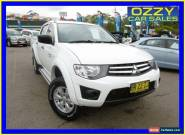 2012 Mitsubishi Triton MN MY12 GLX White Automatic 4sp A Dual Cab Utility for Sale