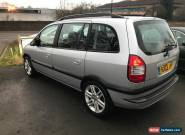 2003 VAUXHALL ZAFIRA DESIGN DTI 16V SILVER for Sale