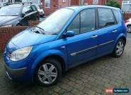 2005 RENAULT SCENIC DYNAMIQUE 16V BLUE - SPARES OR REPAIR - ENGINE MISFIRE for Sale