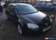 VW Golf 1.9 tdi 2005 reg 5 Door Black Full Service History for Sale