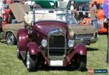 Classic Hot Rod 1929 Ford Tourer (now on SR plates) for Sale