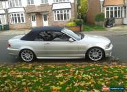2006 BMW 330CD convertible  M SPORT SILVER manual. minter. no swap. for Sale