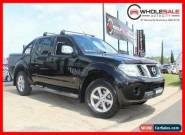 2011 Nissan Navara st-x 550 v6 turbo diesel Black Automatic A Utility for Sale