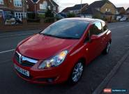 Vauxhall Corsa 1.2 SXI, 2010/60 plate, red, CD/AUX, electric windows, AC for Sale