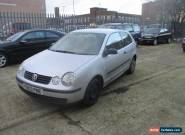 2003 VOLKSWAGEN POLO E SDI SILVER spares or repairs for Sale