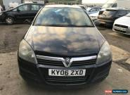 2006 VAUXHALL ASTRA LIFE CDTI BLACK SPARES OR REPAIR RUNS DRIVES PLS READ  for Sale