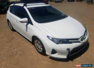 2013 TOYOTA COROLLA ASCENT HATCH 1.8L 6SPD MANUAL ZRE182R DAMAGED REPAIRABLE for Sale