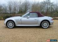 BMW Z3 2.8 wide arch convertible Arctic Silver electric hood red sports leather for Sale