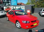 2003 Ford Falcon BA XR6 Red Manual 5sp M Sedan for Sale