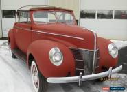 1940 Ford convertible for Sale