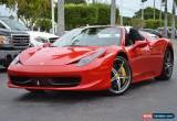 Classic 2014 Ferrari 458 Base Convertible 2-Door for Sale
