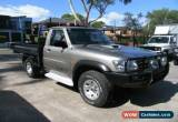 Classic 2006 Nissan Patrol GU DX (4x4) Silver Gold Manual 5sp M Cab Chassis for Sale