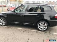 2008 BMW X3 3.0D M SPORT AUTO BLACK low mileage  for Sale