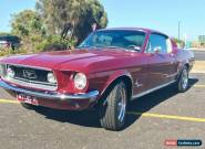 1968 Ford Mustang Burgundy Automatic 3sp A Fastback for Sale