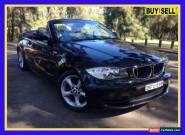 2008 BMW 1 E88 20I Black Automatic 6sp A Convertible for Sale