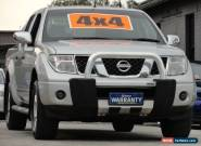 2007 Nissan Navara D40 ST-X (4x4) Silver Automatic 5sp A Dual Cab Pick-up for Sale