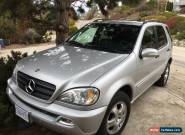 2002 Mercedes-Benz M-Class ML320 for Sale