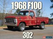 1968 Ford F-100 2 Door for Sale