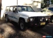 gq nissan patrol 1989 model duel fuel farm car wood truck hunting rig etc for Sale