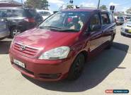2002 Toyota Avensis ACM20R Verso GLX Red Automatic 4sp A Wagon for Sale
