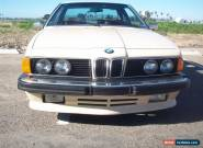 1981 BMW 6-Series Base Coupe 2-Door for Sale