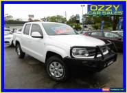 2011 Volkswagen Amarok 2H TDI400 (4x4) White Manual 6sp M Dual Cab Utility for Sale
