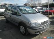 2000 VAUXHALL ZAFIRA 1.6 16V SILVER 7 SEATER for Sale