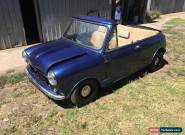 Morris Mini Deluxe (YMA2S2) Convertible Roadster Leyland Cooper S for Sale