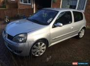 2004 RENAULT CLIO RENAULTSPORT 182 16V SPARES OR REPAIRS IMMOBILSER FAULT  for Sale