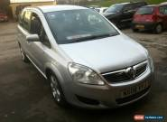 L@@K 2008 VAUXHALL ZAFIRA EXCLUSIV SILVER,SPARES OR REPAIRS.DRIVE AWAY.FULL MOT  for Sale