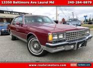 1984 Chevrolet Caprice 4 Door Sedan for Sale
