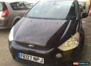 L@@K 2007 FORD S-MAX 2.5T. TITANIUM BLACK.SPARES OR REPAIRS.NON RUNNER. for Sale