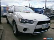 2012 Mitsubishi Outlander ZH MY12 LS (FWD) White Automatic 6sp A Wagon for Sale